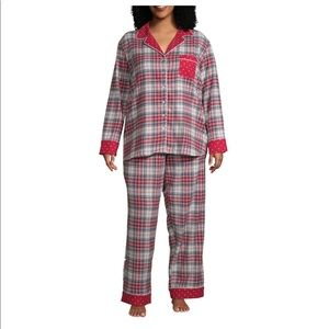 New Womens Liz Claiborne Plus Size PJ Set
